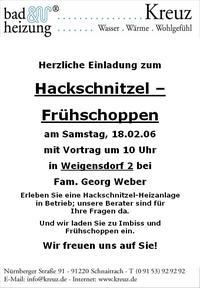 Hackschnitzelfrühschoppen mit der Firma Kreuz Bad und Heizung