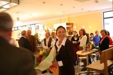 Respekt – Erika Vogel eröffnet den BioMarkt in Lauf