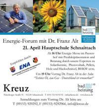 Dr. Franz Alt bei Firma Kreuz Bad & Heizung