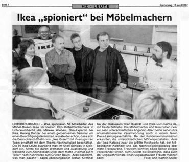 Hersbrucker Zeitung bringt Ikea-Artikel