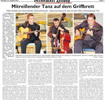 Diknu Schneeberger Trio bei den Möbelmachern