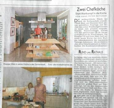 Schöne Bescherung – Malys Massivholzküche in den Nürnberger Nachrichten