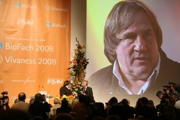 Biofach-Eröffnung mit Gérard Depardieu