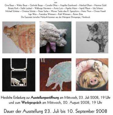 """Ausstellung in der Scholz-Galerie: """"SCHWEINE in mancherlei Form, in mancherlei Farbe"""""""