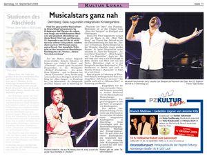 BENEFIZGALA Musicalstars live im Dehnberger Hof Theater
