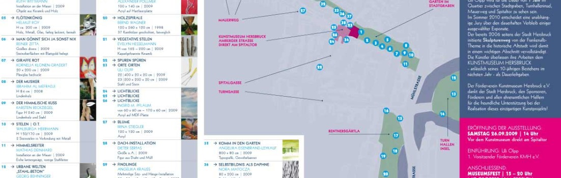 Im Graben was neues – Das Kunstmuseum Hersbruck lädt zur Open Air Ausstellung
