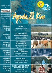 Veranstaltungen am Mittwochin Nürnberg: Agenda 21 Kino und Fachgespräch Klimagerechtigkeit