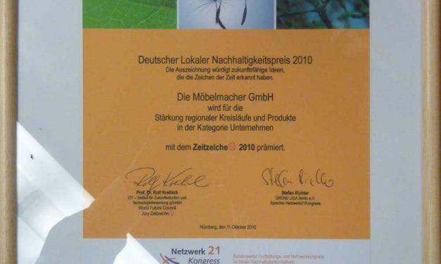Newsletter Nr. 65: Nachhaltigkeitspreis, Consumenta und Raum der Stille