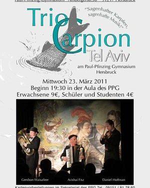 Das Trio Carpion spielt wieder im Hersbrucker PPG