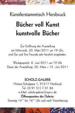 """Einladung in die Scholz-Galerie zur Ausstellung """"Bücher voll Kunst – kunstvolle Bücher"""""""