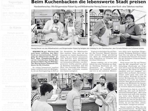 Beim Kuchenbacken die lebenswerte Stadt preisen – HZ berichtet über die Kochshow mit Robert Ilg