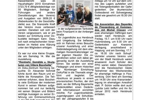 Newsletter der Dokumentationsstätte KZ Hersbruck