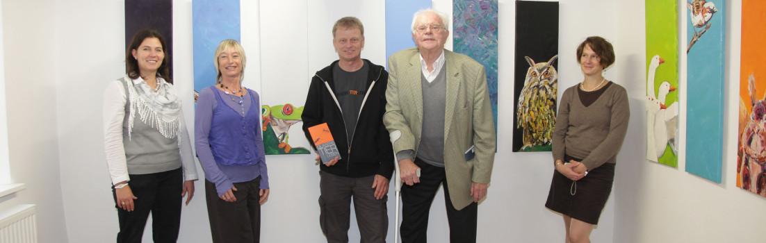"""Buchvorstellung """"Glasers Tierleben"""" im K5 Hersbruck mit Herrmann Glaser und Powerpainter Walter Bauer"""