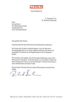 Miele Chef Dr Reinhard Zinkann Antwortet Auf Offenen Brief über Den