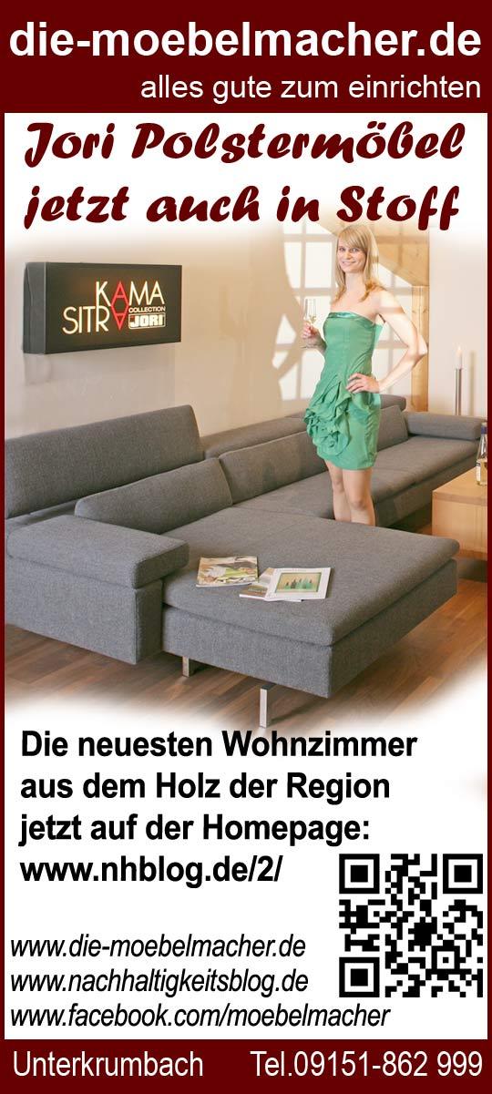 Möbelmacheranzeige für Jori Polstermöbel mit QR-Code verbunden ...