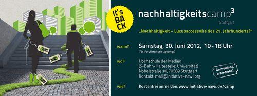 Nachhaltigkeitscamp am 30.6. in Stuttgart