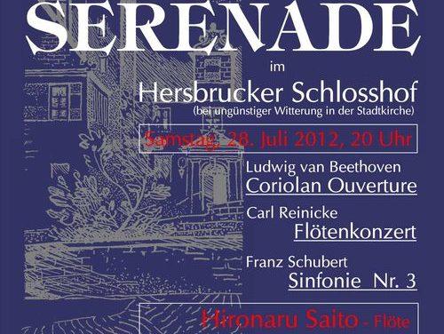 Einladung zur Serenade im Hersbrucker Schlosshof am 28.07.12