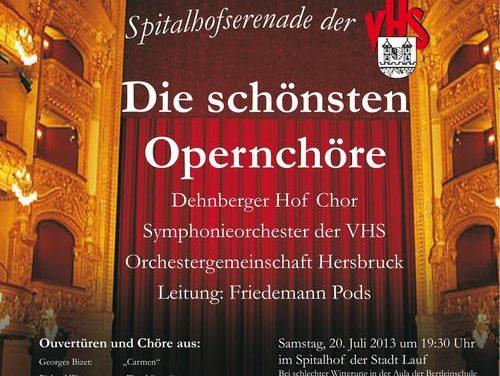 Große Oper am Samtag, 20.7. in Lauf im Spitalhof
