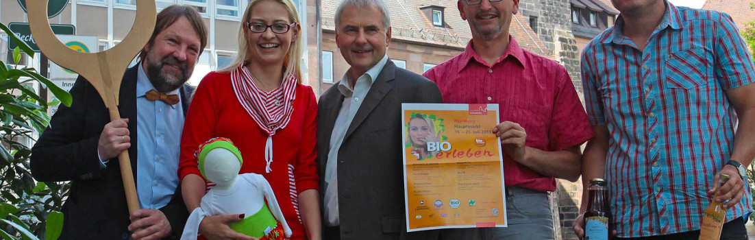 BIOerleben 2013 am Nürnberger Hauptmarkt vom 19 bis 21. Juli 2013