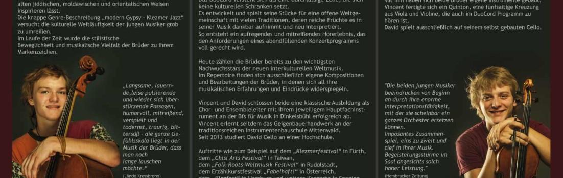"""""""DuoCord"""" spielen im Kulturbahnhof Ottensoos am 20.09.13"""