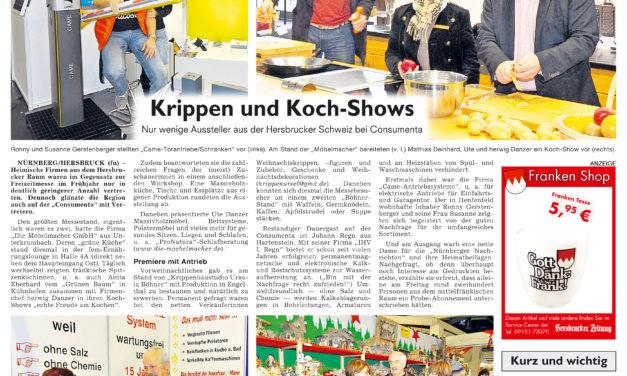 """Bericht über die Frauenmesse """"fem"""" auf der Consumenta in der Herbsrucker Zeitung"""