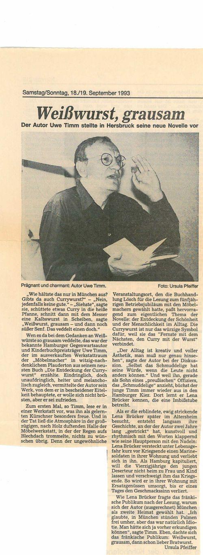 ZeitungsartikelUweTimm1993WEB