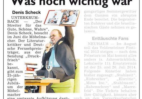 Jahresrückblicke der Hersbrucker Zeitung und der Möbelmacher