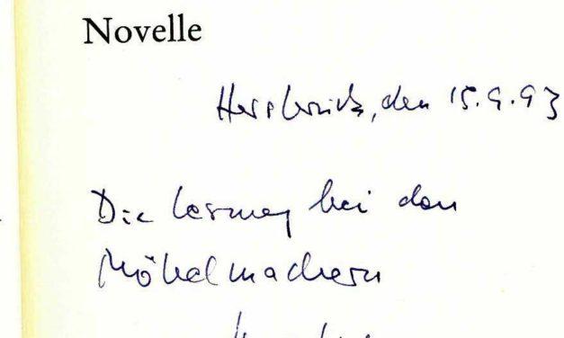 """Uwe Timm liest im Literaturarchiv Sulzbach Rosenberg aus dem neuen Roman """"Vogelweide"""""""
