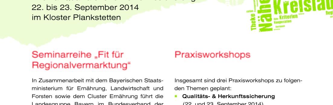 """Praxisworkshop """"Qualitäts- und Herkunftssicherung"""" vom 22. bis 23. September mit Ludwig Karg"""