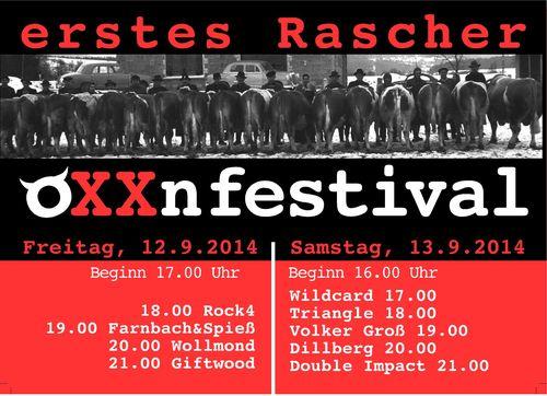 Das erste OXXnfestival in Rasch bei Altdorf