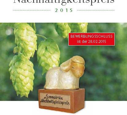 Nachhaltigkeitspreis 2015 der Neumarkter Lammsbräu
