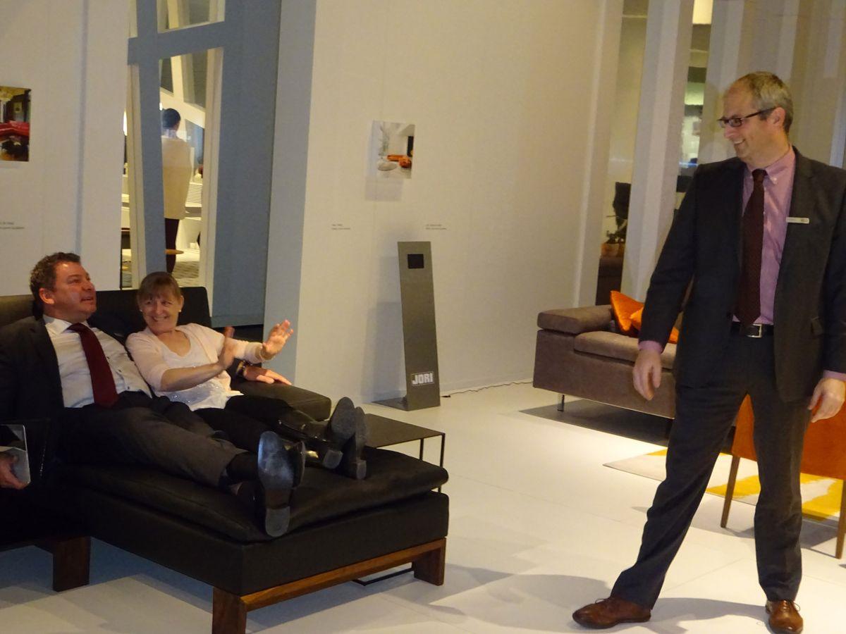 m belmesse in k ln teil 4 polsterm bel von jori auf der imm cologne 2015 das. Black Bedroom Furniture Sets. Home Design Ideas