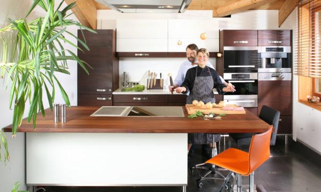 Die Kocheinrichtung  von Diana Burkel und herwig Danzer vermittelt Freude am Kochen