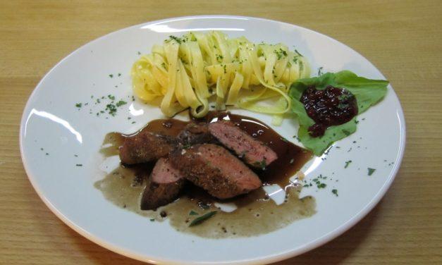 Kochende Kunden: Rehrücken von Bernd Müller im Druckdampfgarer Sous Vide gegart