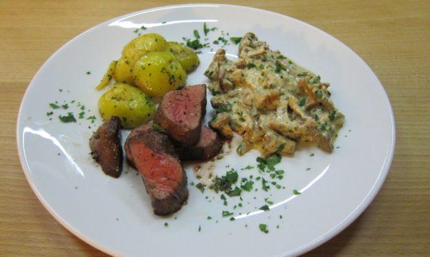 Kochende Kunden: Bernd Müllers Sous Vide gegarter Kopf vom Rinderfilet