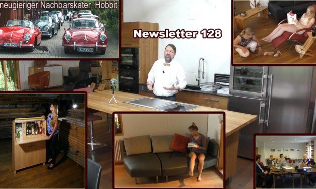 Newsletter 128: Werkstatt-Tage-Videos und Gewinner, Barschrank und Kalender, Nachhaltigkeitspreis und Porsche