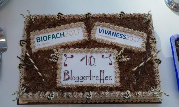 Zum 10. Bloggertreffen auf der Biofach 2017  gabs ´ne schicke Torte