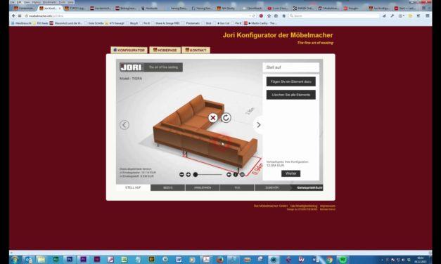 Der Jori Polstermöbel-Konfigurator jetzt auch für Sofas