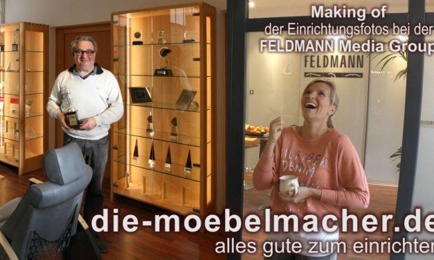 Feldmann Media Group genießt die Massivholzmöbel-Atmosphäre der Möbelmacher
