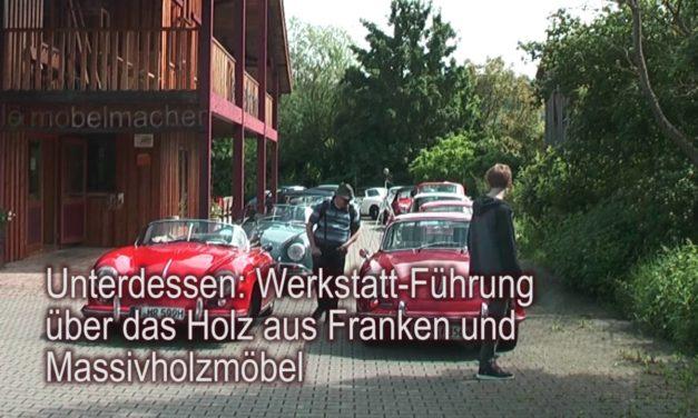 Frühjahrsausfahrt des Porsche-356-Stammtisches Nordbayern in Unterkrumbach