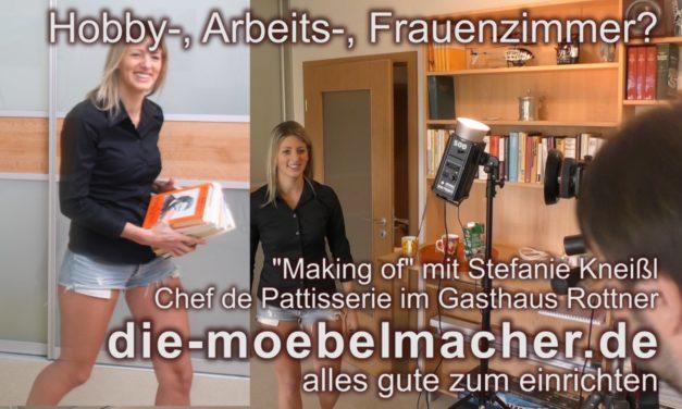 Hobby-, Arbeits-, Frauenzimmer – Beispiel mit höhenverstellbarem Schreibtisch mit Video vom Making of
