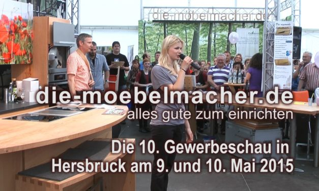Newsletter 114: Kurzmail mit Video zur Gewerbeschau mit Maly, Burkel, Tzschirner und Ihrer Showküchenchance