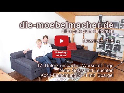 Newsletter 115: Die 17. Werkstatt-Tage, neue Sofas, Spargel-Koch-Einrichtung