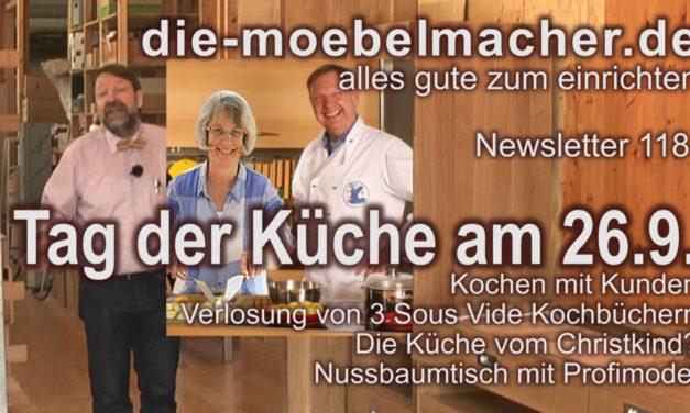 Newsletter 118: Kochbuchverlosung und Kochen mit Kunden am Tag der Küche (26.9.), Christkindels Küche und Tomatentipps