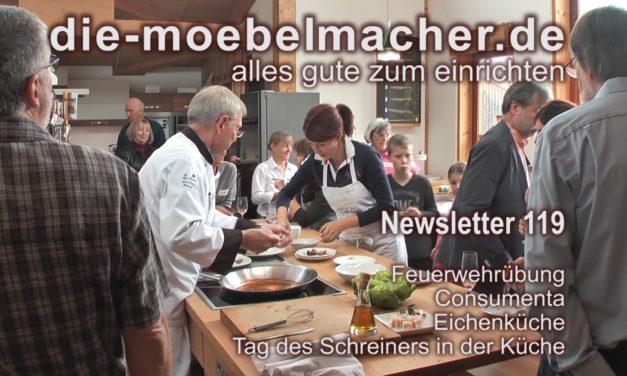 Newsletter 119:   Consumenta, Showküche, Sesselkonfigurator und Tag des Schreiners in der Küche