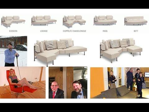 Newsletter 123: Blitzmeldung von der Möbelmesse für multifunktionales Designsofa zum Ausstellungspreis