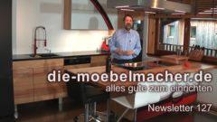Newsletter 127: Einladung Werkstatt-Tage – Steaks am Limit – Porsche 356 – Rotwein- und Kundenküche, Wohnsofa Wing