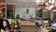 Newsletter 129: Tag der Küche, Prototyp Einbauthermalisierer und Mona Lisa Sessel