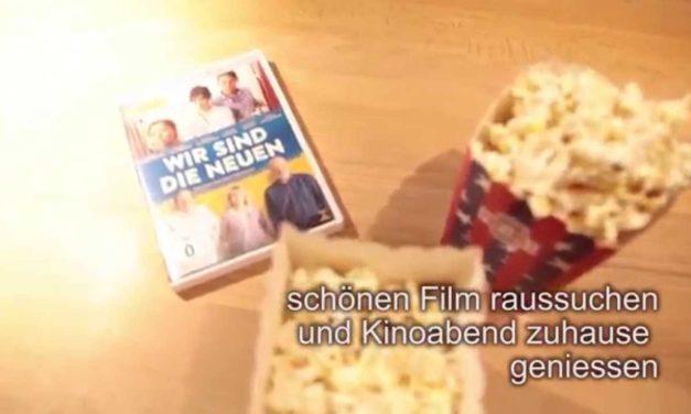 Puffmais, Popcorn und großes Kino in der Möbelmacherküche ohne Mikrowelle