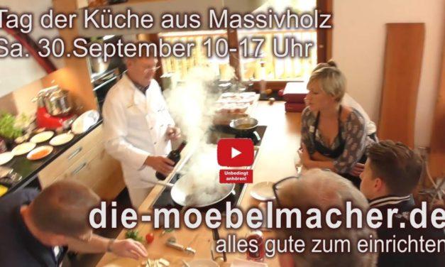 Tag der Küche aus Massivholz am Samstag mit stolzem Gockel